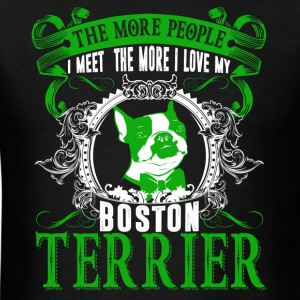 Love Boston Terrier Shirts - Men's T-Shirt
