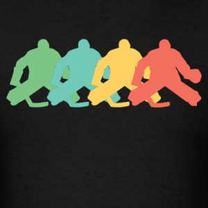 Retro Hockey Goalie Pop Art - Men's T-Shirt