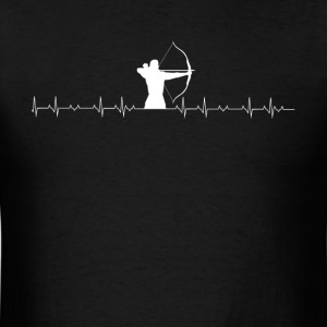 Archery lover heartbeat - Men's T-Shirt