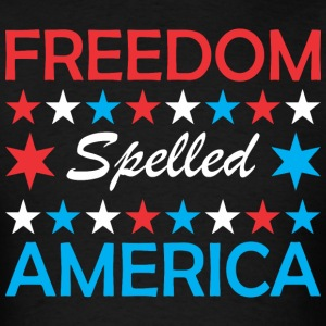 Freedom Spelled America - Men's T-Shirt