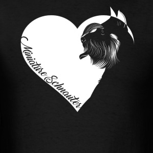 Love Miniature Schnauzer Shirt - Men's T-Shirt