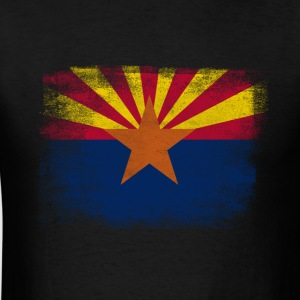 Arizona State Flag Distressed Vintage - Men's T-Shirt