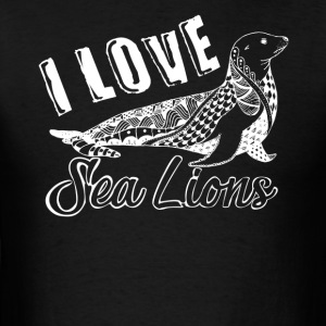 Love Sea Lions Shirt - Men's T-Shirt