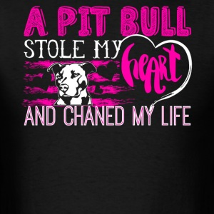 Pitbull Stole My Heart Shirt - Men's T-Shirt