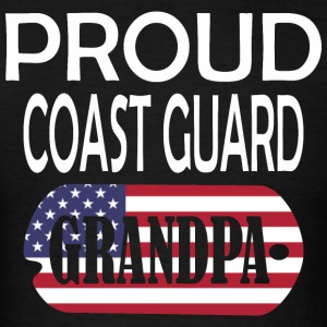Proud Coast Guard Grandpa - Men's T-Shirt