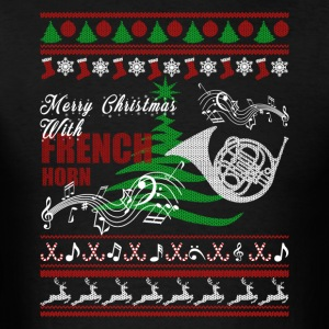 French Horn Shirt - French Horn Christmas Shirt - Men's T-Shirt
