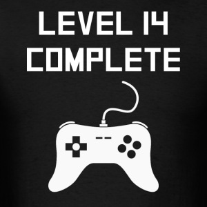 Level 14 Complete Video Games 14th Birthday - Men's T-Shirt