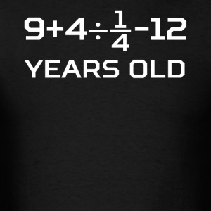 13 Years Old Algebra Equation 13th Birthday - Men's T-Shirt