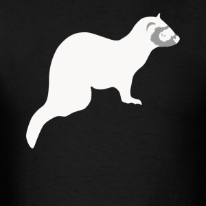 Cute Pet Ferret Silhouette Animal Lover - Men's T-Shirt