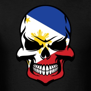 Filipino Flag Skull Cool Philippines Skull - Men's T-Shirt