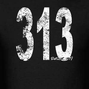 Vintage Detroit Area Code 313 - Men's T-Shirt