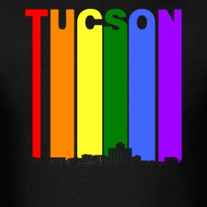 Tucson Arizona Skyline Rainbow LGBT Gay Pride - Men's T-Shirt