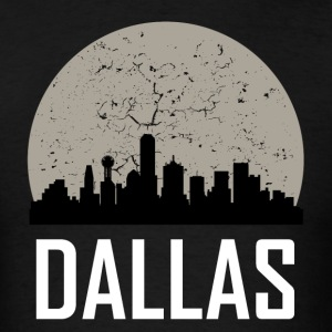 Dallas Full Moon Skyline - Men's T-Shirt
