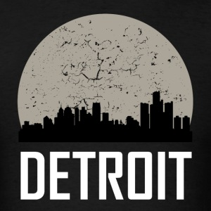Detroit Full Moon Skyline - Men's T-Shirt
