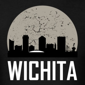 Wichita Full Moon Skyline - Men's T-Shirt