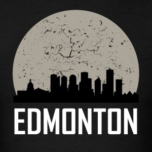 Edmonton Full Moon Skyline - Men's T-Shirt
