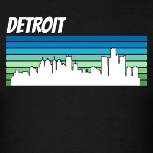 Retro Detroit Skyline - Men's T-Shirt