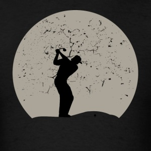 Golfing Full Moon - Men's T-Shirt