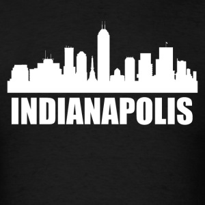 Indianapolis IN Skyline - Men's T-Shirt