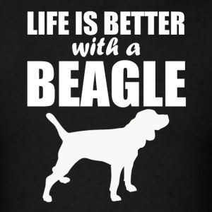 Life Is Better With A Beagle - Men's T-Shirt