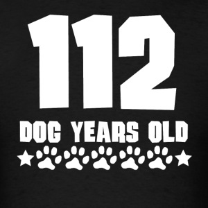 112 Dog Years Old Funny 16th Birthday - Men's T-Shirt