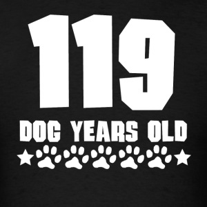 119 Dog Years Old Funny 17th Birthday - Men's T-Shirt