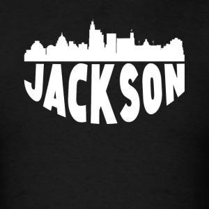 Jackson MS Cityscape Skyline - Men's T-Shirt