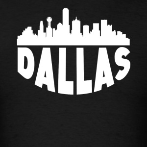 Dallas TX Cityscape Skyline - Men's T-Shirt