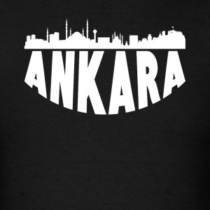 Ankara Turkey Cityscape Skyline - Men's T-Shirt