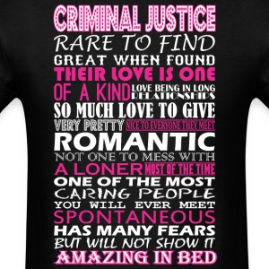 Criminal Justice Rare Find Romantic Amazing To Bed - Men's T-Shirt