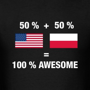 Polish American Half Poland Half America Flag - Men's T-Shirt