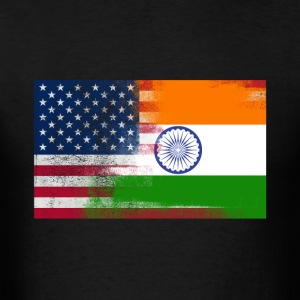 Indian American Half India Half America Flag - Men's T-Shirt