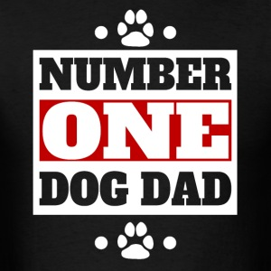 Number One Dog Dad Retro Style Dog Owner - Men's T-Shirt