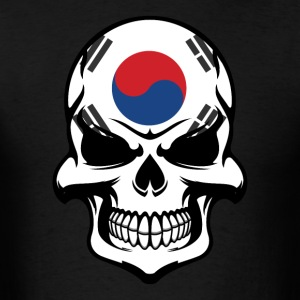 Korean Flag Skull Cool South Korea Skull - Men's T-Shirt