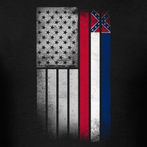 USA Vintage Mississippi State Flag - Men's T-Shirt