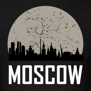 Moscow Full Moon Skyline - Men's T-Shirt
