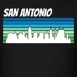 Retro San Antonio Skyline - Men's T-Shirt
