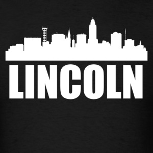Lincoln NE Skyline - Men's T-Shirt