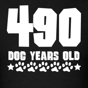 490 Dog Years Old Funny 70th Birthday70 years old, - Men's T-Shirt