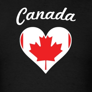 Canada Flag Heart - Men's T-Shirt