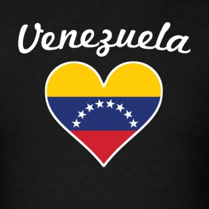 Venezuela Flag Heart - Men's T-Shirt