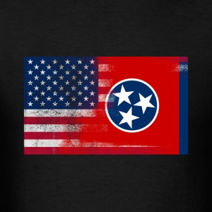 Tennessee American Flag Fusion - Men's T-Shirt