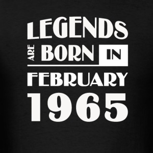 Legends are born in February 1965 - Men's T-Shirt