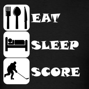 Eat Sleep Score Hockey - Men's T-Shirt
