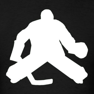 Hockey Goalie Silhouette - Men's T-Shirt