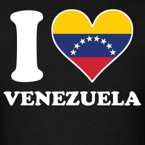 I Love Venezuela Venezuelan Flag Heart - Men's T-Shirt