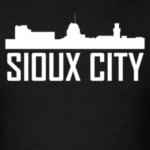 Sioux City Iowa City Skyline - Men's T-Shirt