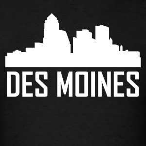 Des Moines Iowa City Skyline - Men's T-Shirt