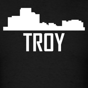 Troy Michigan City Skyline - Men's T-Shirt
