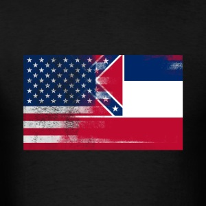 Mississippi American Flag Fusion - Men's T-Shirt